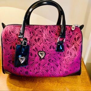 Diane Von Furstenberg Purple Hearts Travel Bag.
